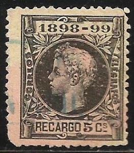 Spain War Tax 1898 Scott# MR27 Used