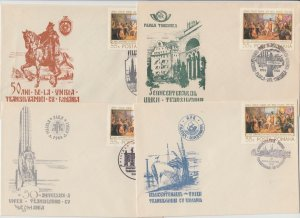 1968 ROMANIA COVERS TRANSYLVANIA UNION POSTAL HISTORY SPECIAL MARKINGS
