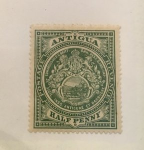 Antigua Scott 31 Coat of Arms Half Penny-Mint-Hinge Remnant