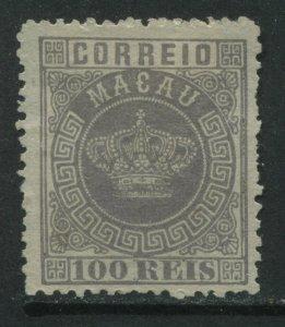 Macao 1884 100 reis lilac unused no gum