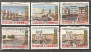 Russia/USSR 1953,Architecture Bridges,Dams,Volga-Don Canal,Sc 1666-1671,USED
