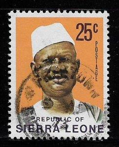 SIERRA LEONE, 431, USED, PRES. SIAKA STEVENS