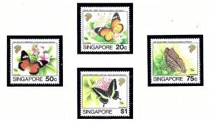 Singapore 660-63 MNH 1993 Butterflies    (KA)