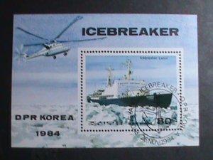 KOREA STAMP-1984-SC#2435 RUSSIAN ICE BREAKER CTO S/S VERY FINE AND