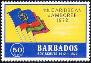 Barbados # 375 mnh ~ 50¢ Scouting - Flags