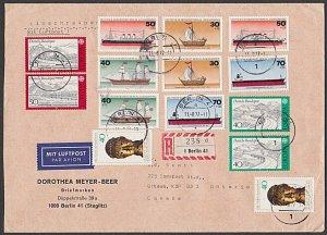 EAST GERMANY 1977 Registered cover - Nice franking - ships etc..............B699