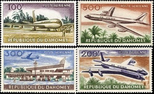 Commercial Aviation Airmail Stamps From Dahomey#  C20-C23 MNH