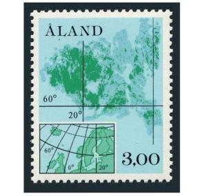 Finland-Aland 17,MNH.Michel 5. Map of Scandinavia,1984.