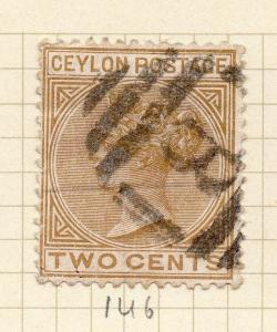 Ceylon 1883-98 Early Issue Fine Used 2c. 154400