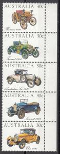 Australia, Sc # 892a-e, MNH, 1984, Australian Made Autos