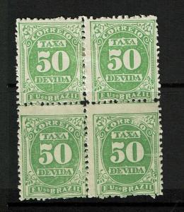 Brazil SC# J20 Block of 4 Mint Hinged / Hinge Rem / 2 NH - S7182