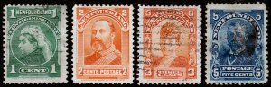 Newfoundland Scott 80-81, 83, 85 (1897-99) Used/Mint F, CV $10.60 C