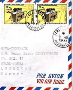 MADAGASCAR Cover LEPROSERIE Missionary Air Mail MIVA 1985 CM34