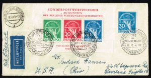 Germany #9NB3a Sheet w/ Constant Plate Flaws on cover