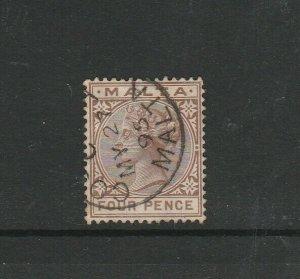 Malta 1885 QV 4d cds Used SG 27