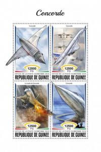 GUINEA - 2018 - Concorde - Perf 4v Sheet - MNH