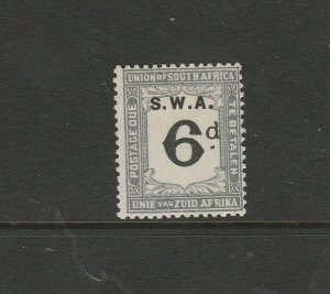 South West Africa 1928/9 Postage dues, 6d ( S Africa D16)  MM SG D41