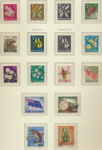 New Zealand Stamp Scott #333-51, 360-1, Used, Short Set, Some Mint NH