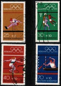 GERMANY 1972 OLYMPIC GAMES MUNICH USED (VFU) P.14 SG1621-24 SUPERB