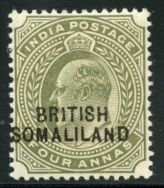 BRIISH SOMALILAND  SCOTT#25c   MINT HINGED 1 INSTEAD OF I IN BRITISH