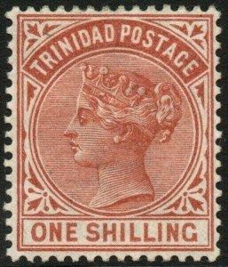 TRINIDAD-1884 1/- Orange-Brown Sg 112 MOUNTED MINT V48577