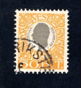 Danish West Indies #36,  VF,  Used,   CV $10.00 ....1630036