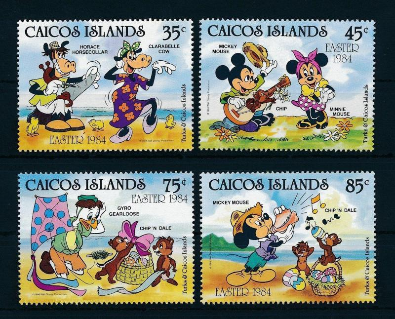 [22174] Caicos Islands 1984 Disney Characters Easter MNH