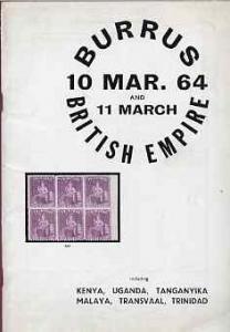 Auction Catalogue - British Empire with Kenya, KUT, Trans...