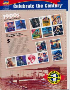 [53082] United States 1998-1999 Celebrate the century Complete set of 10 sheets