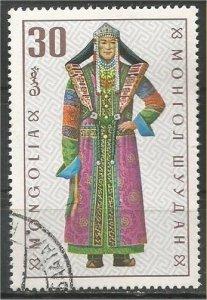 MONGOLIA, 1969, CTO 30m,Costumes Scott 528