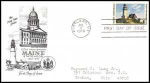 US 1391 Maine Statehood Artmaster Typed FDC