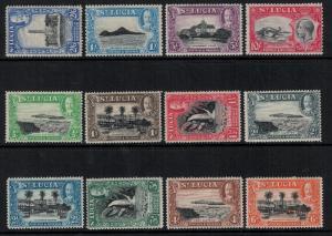 St Lucia 1936 SC 95-106 LH CV $105.70