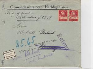Switzerland 1930 Postal History Stamps Cover Ref: R7811