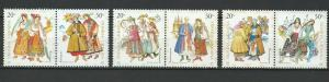 Ukraine 2001 Traditional Costumes 6 MNH Stamps