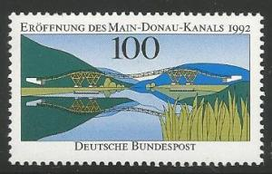 GERMANY 1760, MNH STAMP, OPENING OF MAIN-DANUBE CANAL