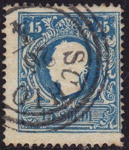 Lombardy-Venetia - 1858 - Scott #12 - used - SCHIO pmk