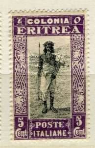 ITALY; ERITREA 1930 early pictorial issue Mint hinged 5c. value