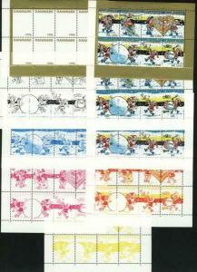 Denmark. Christmas Seal 1996. Set Booklet Sheets Scale/Proof,Mnh. Perforated.