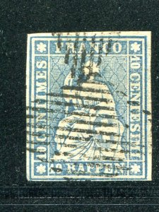 Switzerland  #21  Used  VF   - Lakeshore Philatelics