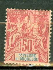M: St Pierre & Miquelon 75 mint CV $52.50