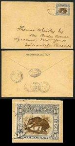 North Borneo SG104 1902 Cover Sandakan to New York