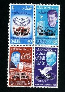 Qatar Stamps # 101E-H Rare NH