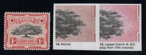 Tonga, SG 75a, MNH Lopped Branch variety