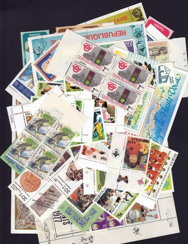 Nice Selection of Worldwide Stamps,Sets,#Blocks,and S/S, MNH. No Duplication!