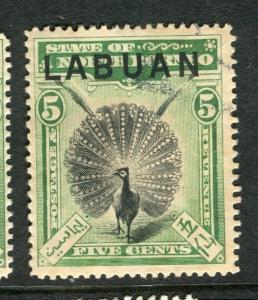 LABUAN; 1894 classic Pictorial issue fine used 5c. value