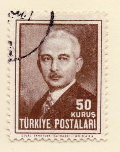 Turkey 1948 Early Issue Fine Used 50k. 093037