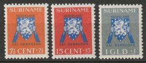 Suriname 1941 Sc B34-6 set MNH
