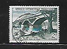 FRENCH WEST AFRICA, 66, USED, BRIDGE