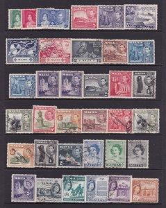 Malta small collection M&U KGVI & QE2 eras