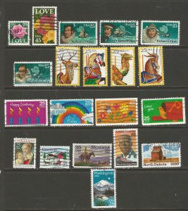 USA Postage Stamps Used (40 stamps)